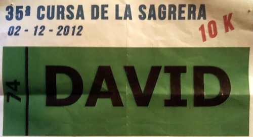 Dorsal de la Cursa de La Sagrera 2012