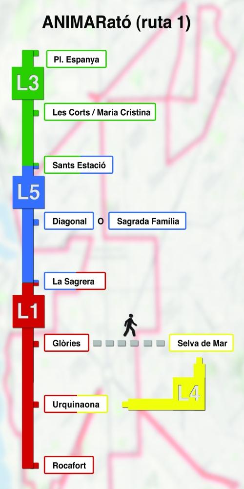 Plano Metro Marato Barcelona 1AA