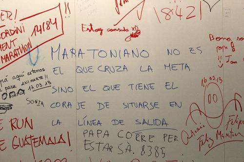 Slogan patillero Marató Barcelona