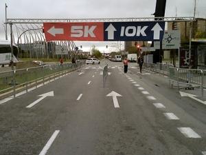 Division de las carreras de 5k y 10k en la Cursa Nocturan de L'Hospitalet