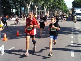 Nuevas y viejas generaciones en la Cursa de la Maquinista 2013