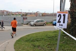 Punt kilomètric Mitja Marató Colomenca