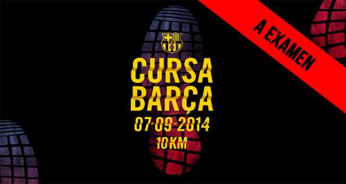 A examen  Cursa Barça Running