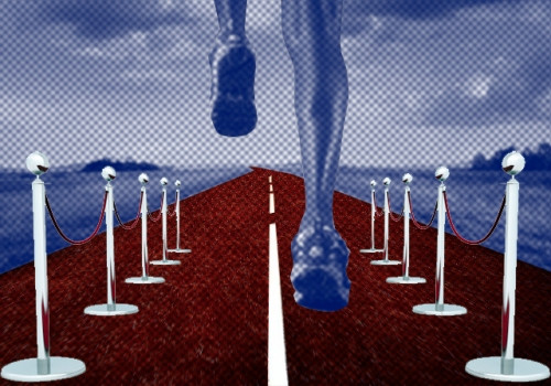 Legs of Runner of Rural Road --- Image by © Tim Tadder/Corbis