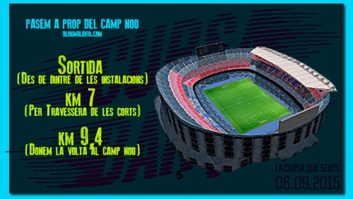 CAMP NOU Cursa Barça