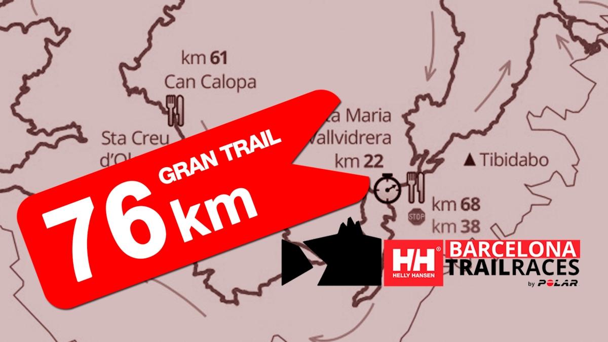 BCN Trail Races: el recorrido del Gran Trail (76k)