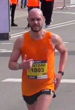 Antoni Baltar pasando km 40 Marató BCN 2017