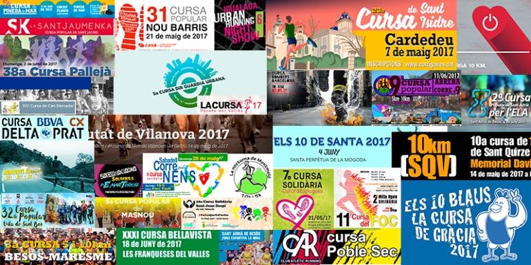 CALENDARIO 5k y 10k Carreras Curses POPULARES POPULARS BARCELONA CATALUNYA