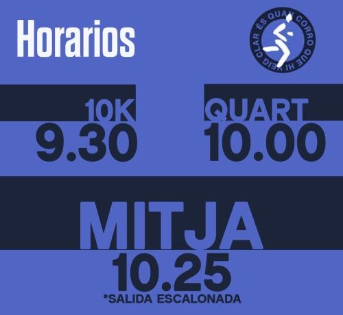 HORARIOS MITJA GRANOLLERS 21k