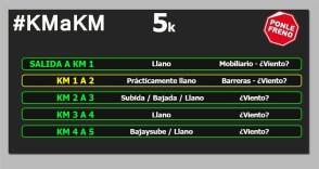 Ponle Freno 5k km a km circuito